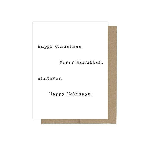 merry christmas card happy hanukkah card happy christmas card merry hanukkah card - Funny Hanukkah Cards