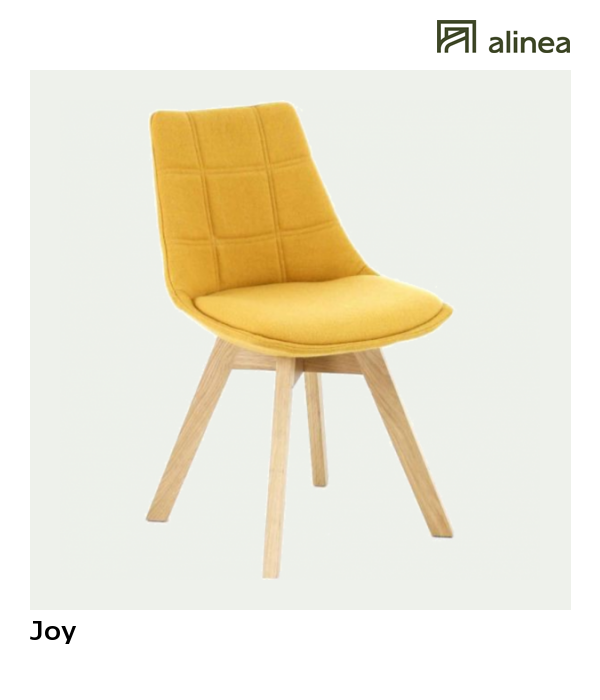 alinea joy chaise jaune moutarde avec