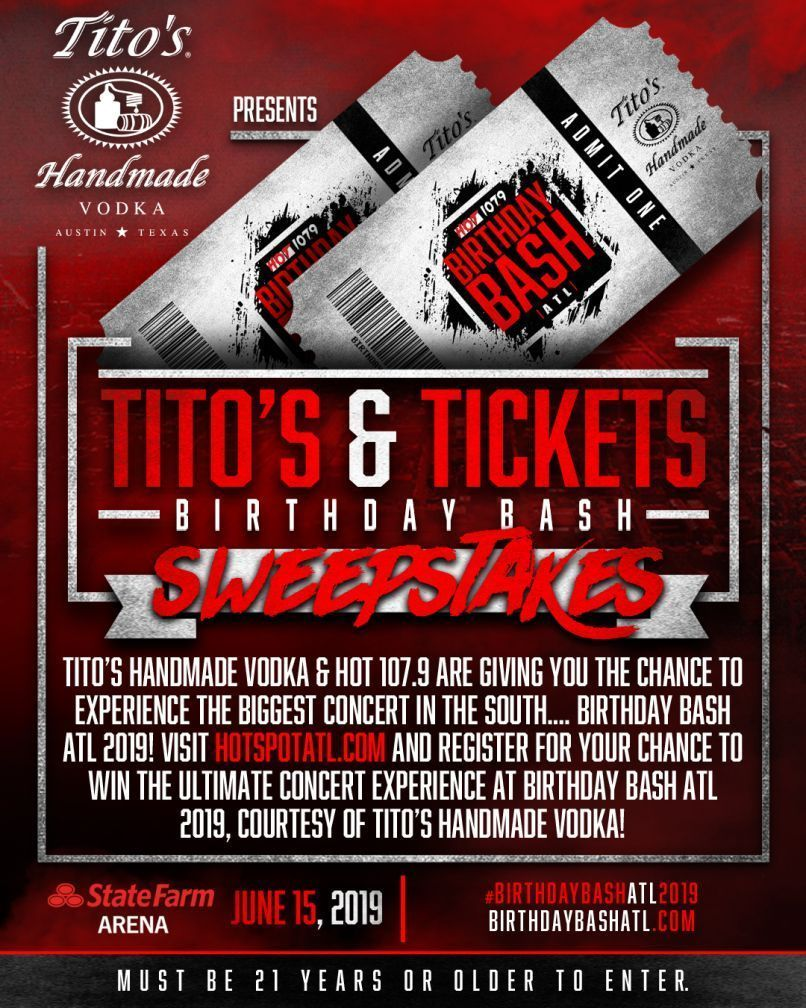The Tito's And Tickets Birthday Sweepstakes - Win A pair of Premium
