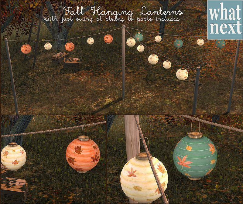 {what next} Fall Hanging Lanterns For Fifty Linden Friday | Flickr - Photo Sharing!
