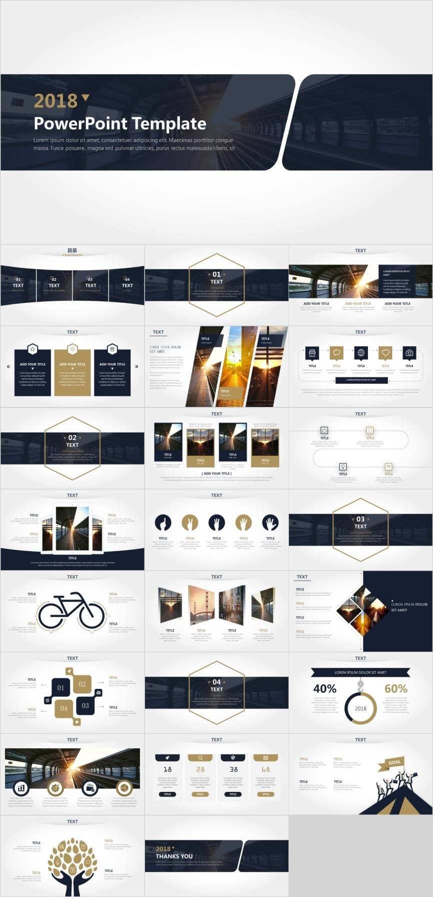 Simple Clean Cool Business Report Powerpoint Template Pcslide Com Powerpoint Presentation Infograp Layout Design Annual Report Design Poster Design Layout
