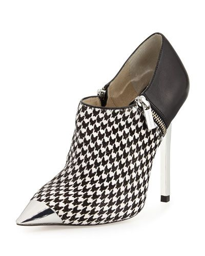 7bfe3baf157d X2G3T MICHAEL Michael Kors Zady Houndstooth Bootie