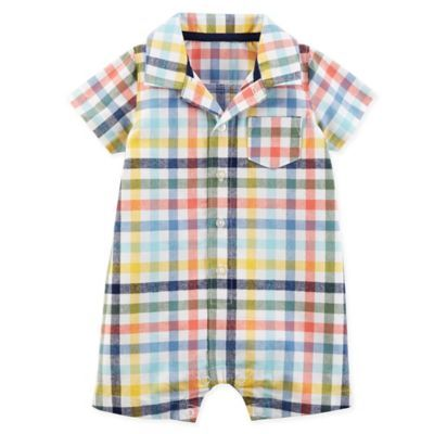 NEW CARTERS BOYS ONE PIECE ROMPER WITH COLLAR OUTFIT VARIOUS SIZES AND STYLES