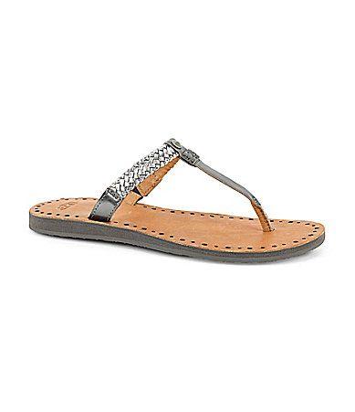 7fafff92a9a0b4 UGG Australia Womens Bria Braided Sandals  Dillards leather silver  60.00  Size 9.5