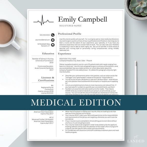 Nurse Resume Template CV For Nursing Student Graduation Medical Assistant