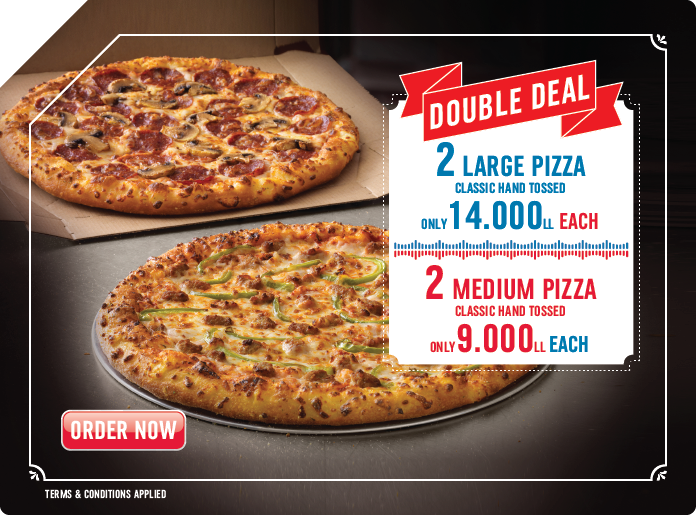 Dominos Pizza Online Pizza Delivery Lebanon Take Away Carryout