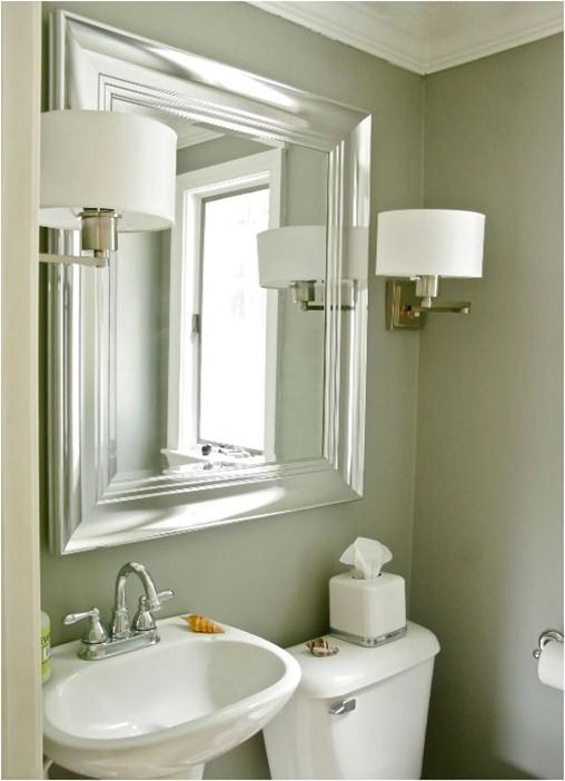 bathroom sconces and mirror stephen saint onge. I kind of LOVE this ...