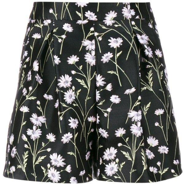 Giambattista Valli Floral Jacquard Shorts ($758) ❤ liked on Polyvore featuring shorts, black, floral shorts, giambattista valli, floral printed shorts, flower print shorts and mini shorts