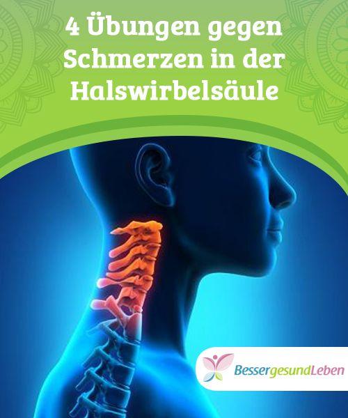 4 Übungen gegen Schmerzen in der Halswirbelsäule | Natürliche ...