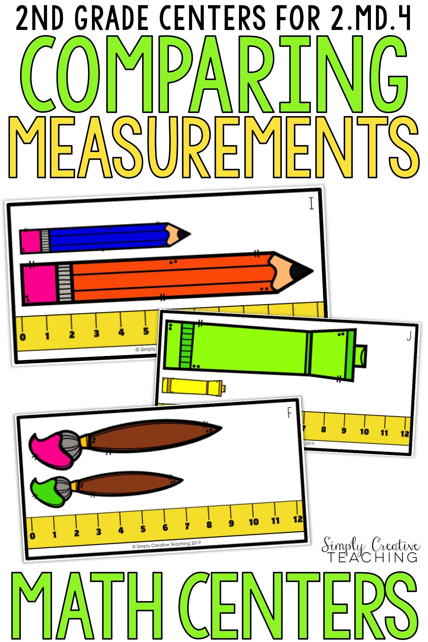 2nd Grade Comparing Measurement Lengths Centers For 2 4