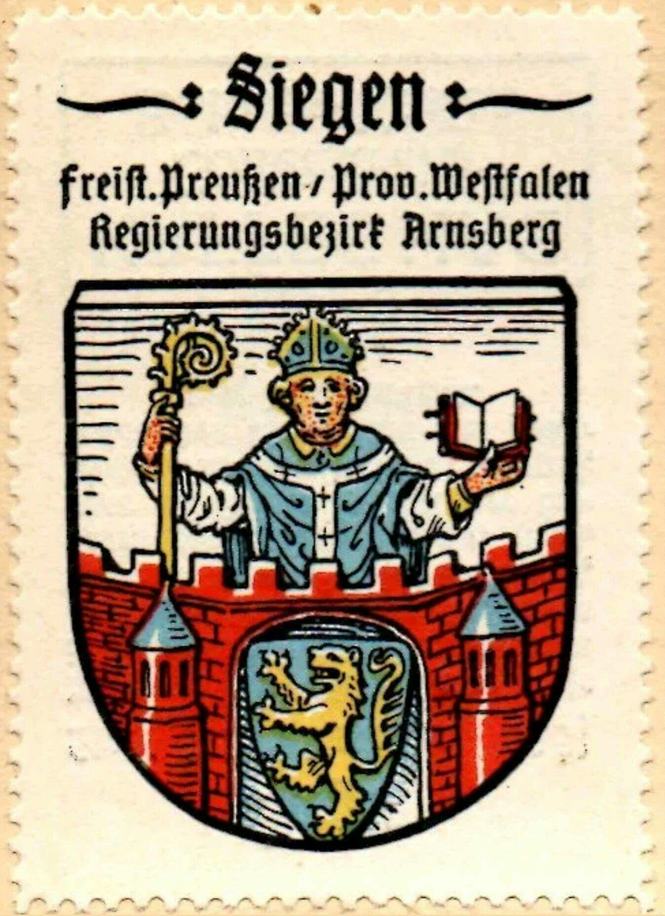 Pin Von Hans Walter Dorr Auf Siegen Siegen Wappen