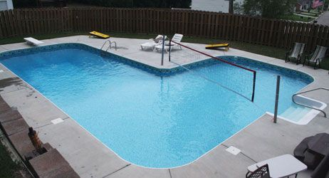 L Shaped Inground Vinyl Pool From American Sale Swimming Pools Inground Vinyl Pools Inground Vinyl Pool