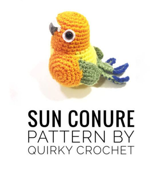 Sun Conure Crochet Pattern PDF Instant Download Doll | Crochet ...