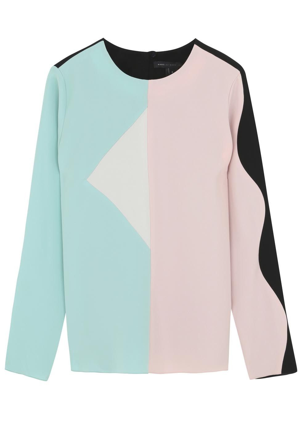 Marc by Marc Jacobs multicoloured crepe top Button fastening keyhole back Slips on 100% polyester