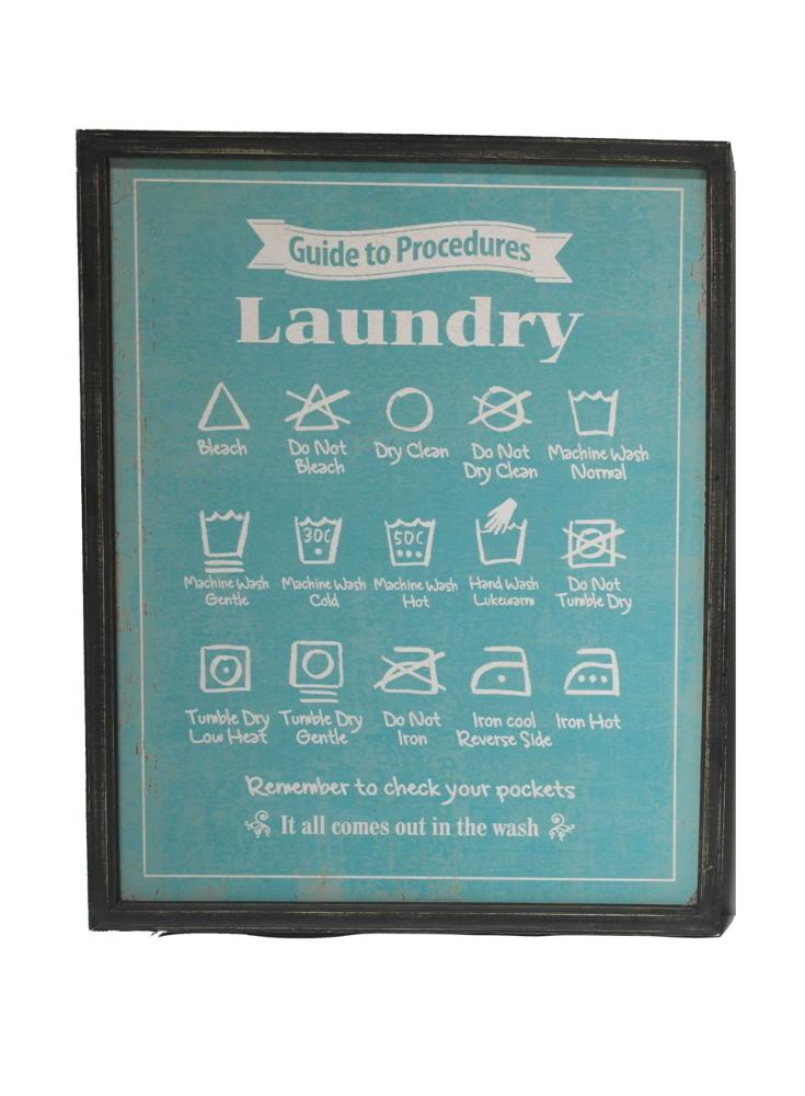 A Loja Do Gato Preto Painel Laundry Rules Azul Alojadogatopreto