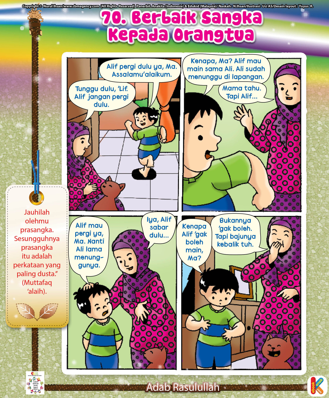 Komik Adab Berbaik Sangka Pada Orangtua Buku Anak Komik Anak Perawatan Anak