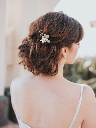 Lindsay Enchanting Floral Rhinestone And Crystal Bridal Hair Pin Bridal Hair Accessories And Wedding Short Wedding Hair Wedding Hair Pins Short Hair Styles