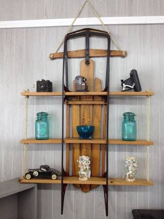 There Are Many Diffe Uses For Vintage Shelves Like This Sled Shelf Put Lots Of Decor Items From Antiques To Holiday On It