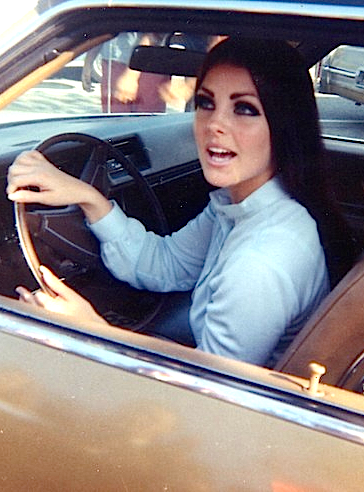 Pretty Priscilla Presley Driving Her Car New Romantics