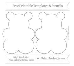 Free Printable Large Gummy Bear Template Gummy Bear Science