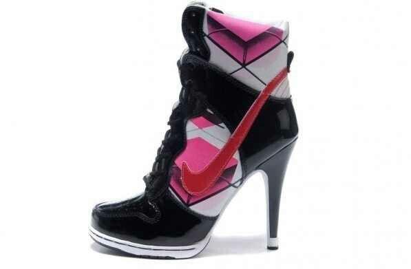 Nike tennis shoes / heels I like the combo · Nike High HeelsHigh Heel ...