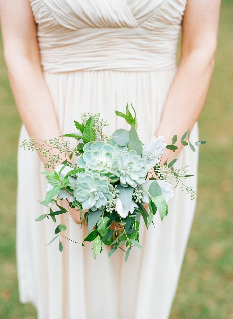Organic green + white bouquets: http://www.stylemepretty.com/2016/06/20/steal-the-look-morgan-stewarts-glam-all-white-wedding/