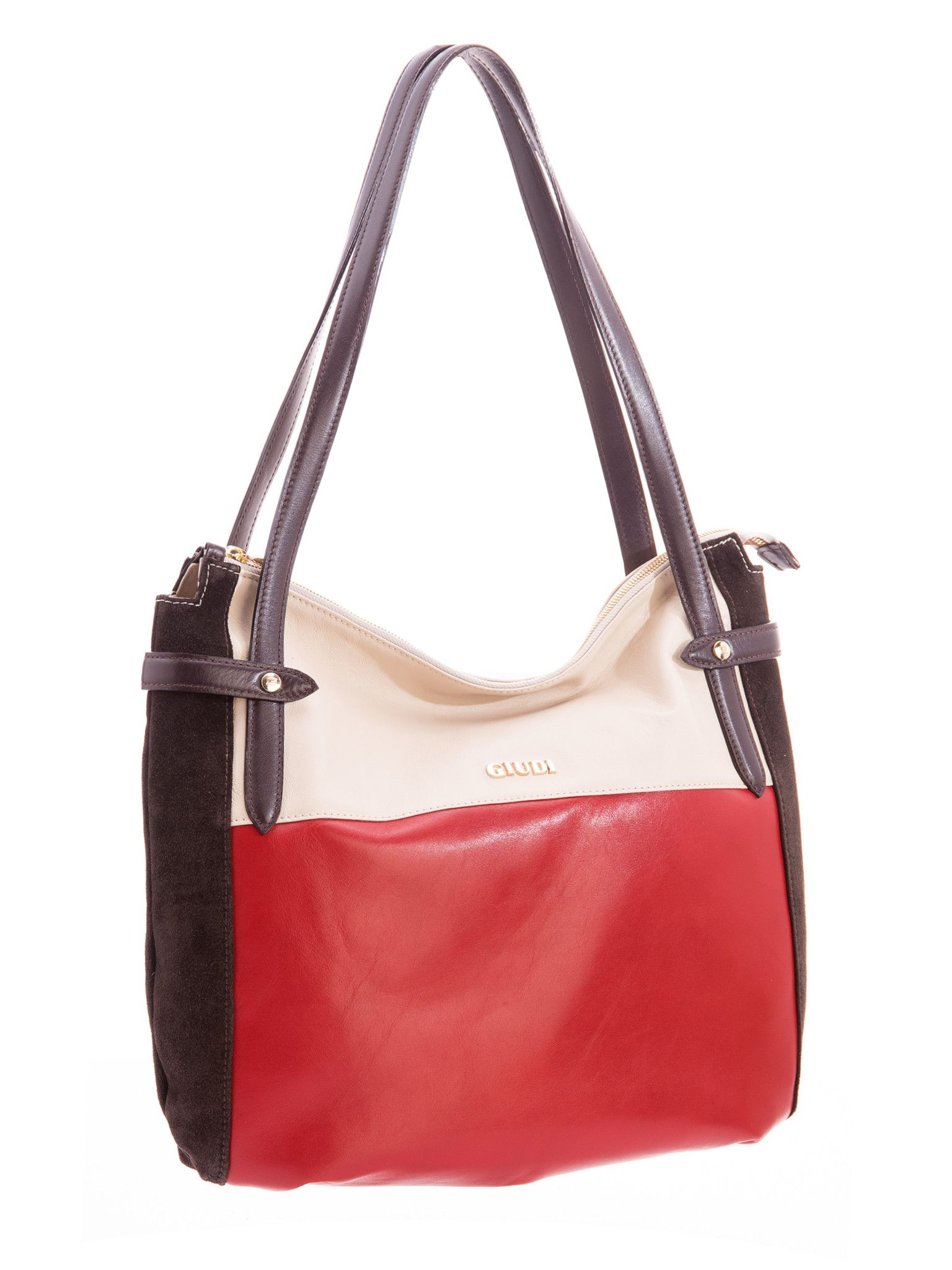 luxury red Italian purse