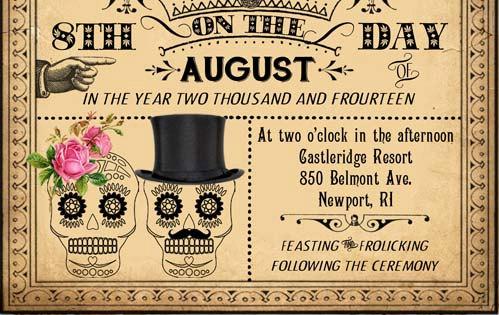 Luella Printable Diy Victorian Steampunk Wedding Invitation Suite