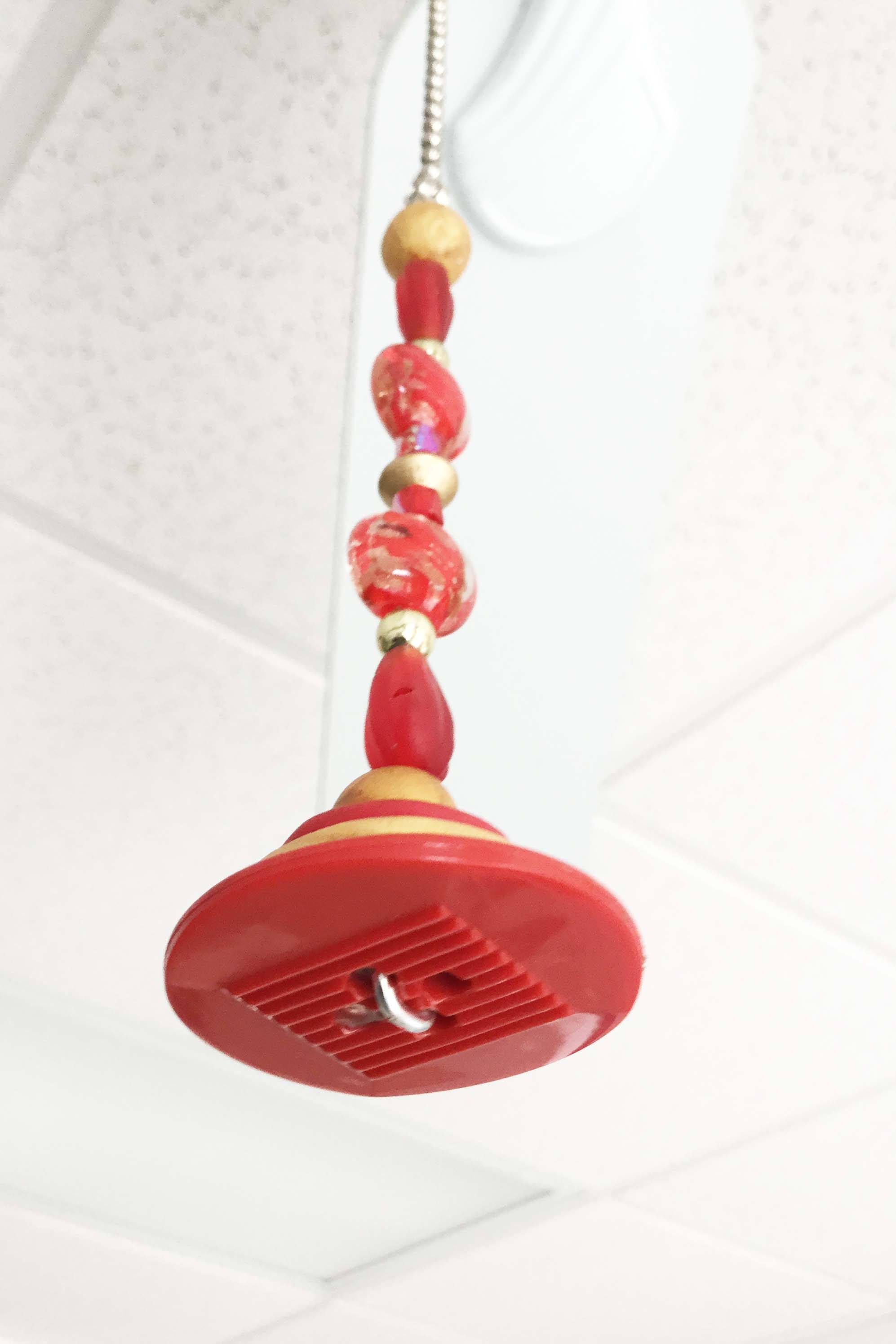 Light Pull Ceiling Fan Red And