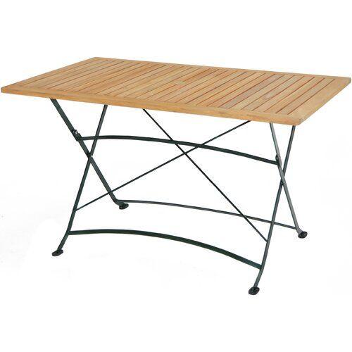 Moorpark Folding Teak Dining Table Sol 72 Outdoor Wooden Picnic