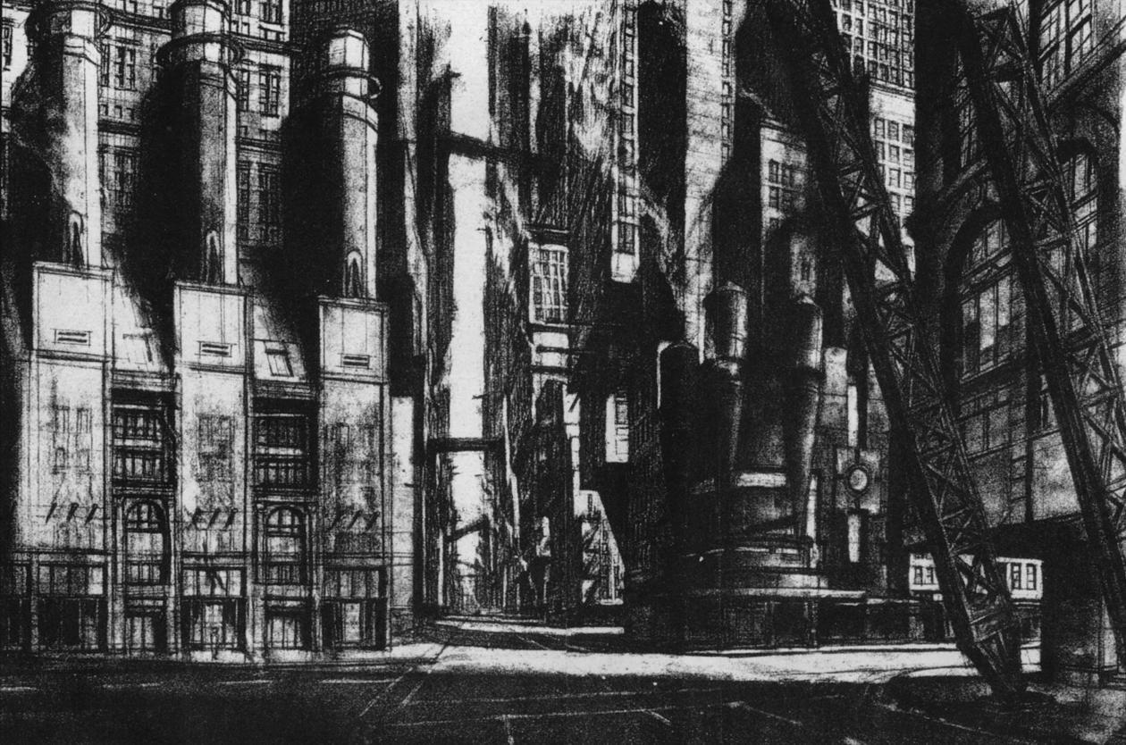 Old Gotham City By Anton Furst Gotham City Gotham Concept Art