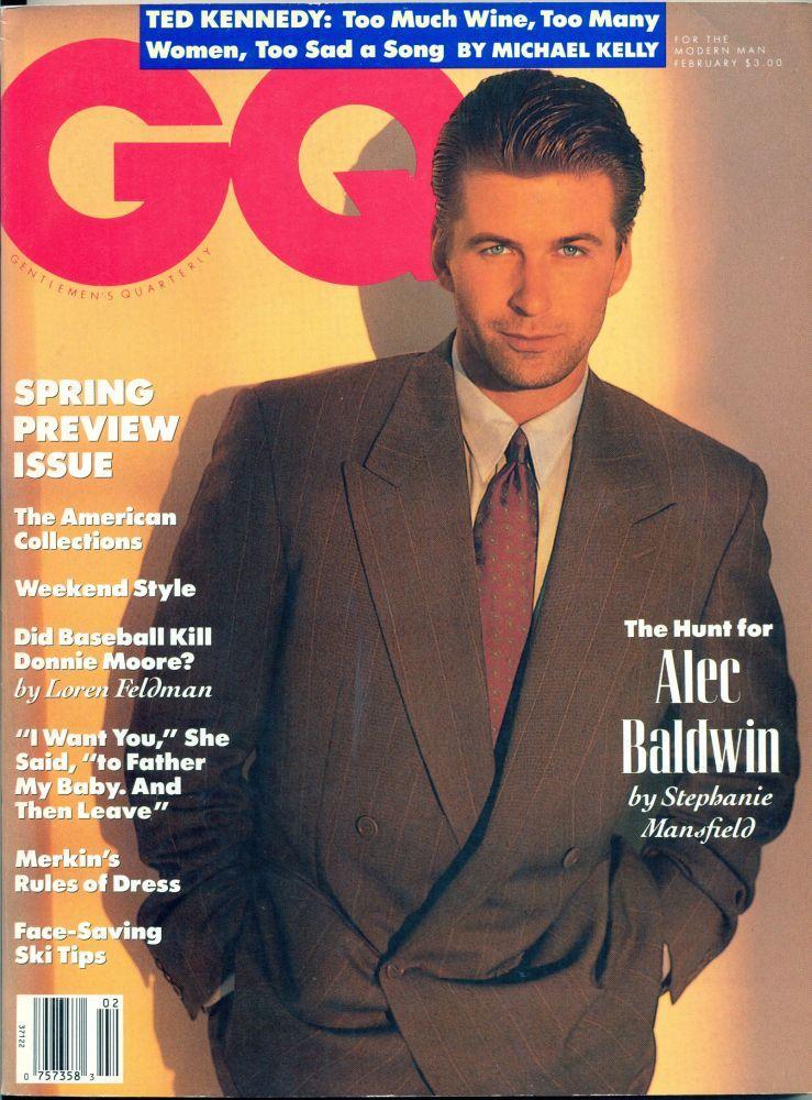 GQ, February 1991  #magazines #cover #alecbaldwin