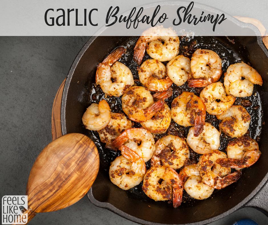 Garlic Buffalo Shrimp #buffaloshrimp