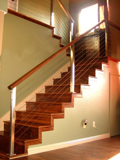 Foyer Staircase Kits : Railing idea dark wood to match flooring foyer