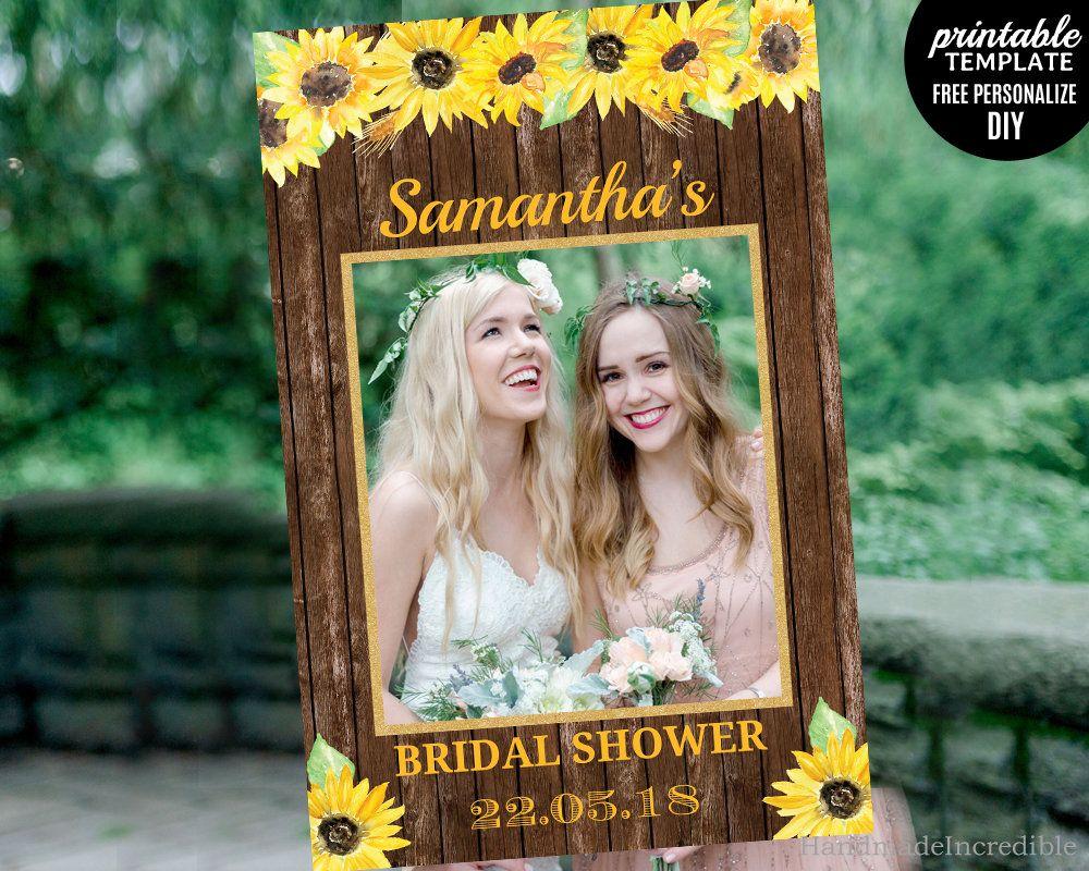 Sunflower Wedding Prop Bridal Shower Props Bridal Shower Photo Prop Country Wedding Decor Burlap Wedding Mason Jar Wedding