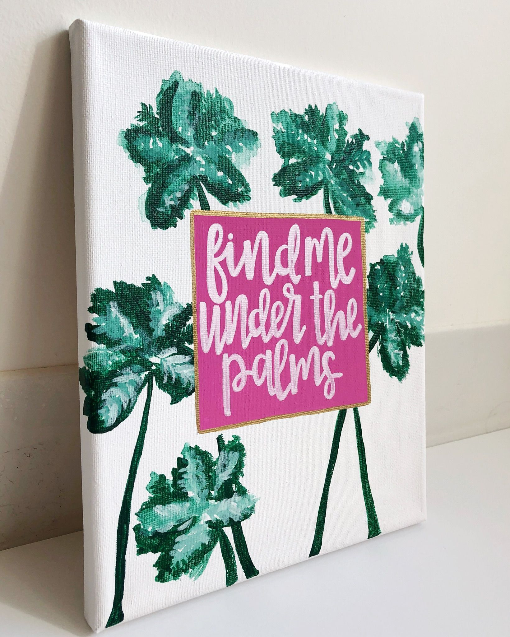 Find Me An Apartment: Canvas- Find Me Under The Palms/ Palm Tree Canvas/ Beach
