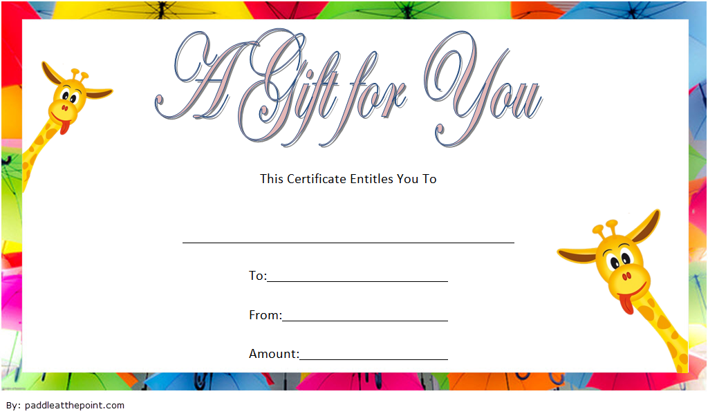 Free Baby Shower Voucher Gift Template Gift Certificate Template Free Baby Shower Baby Shower