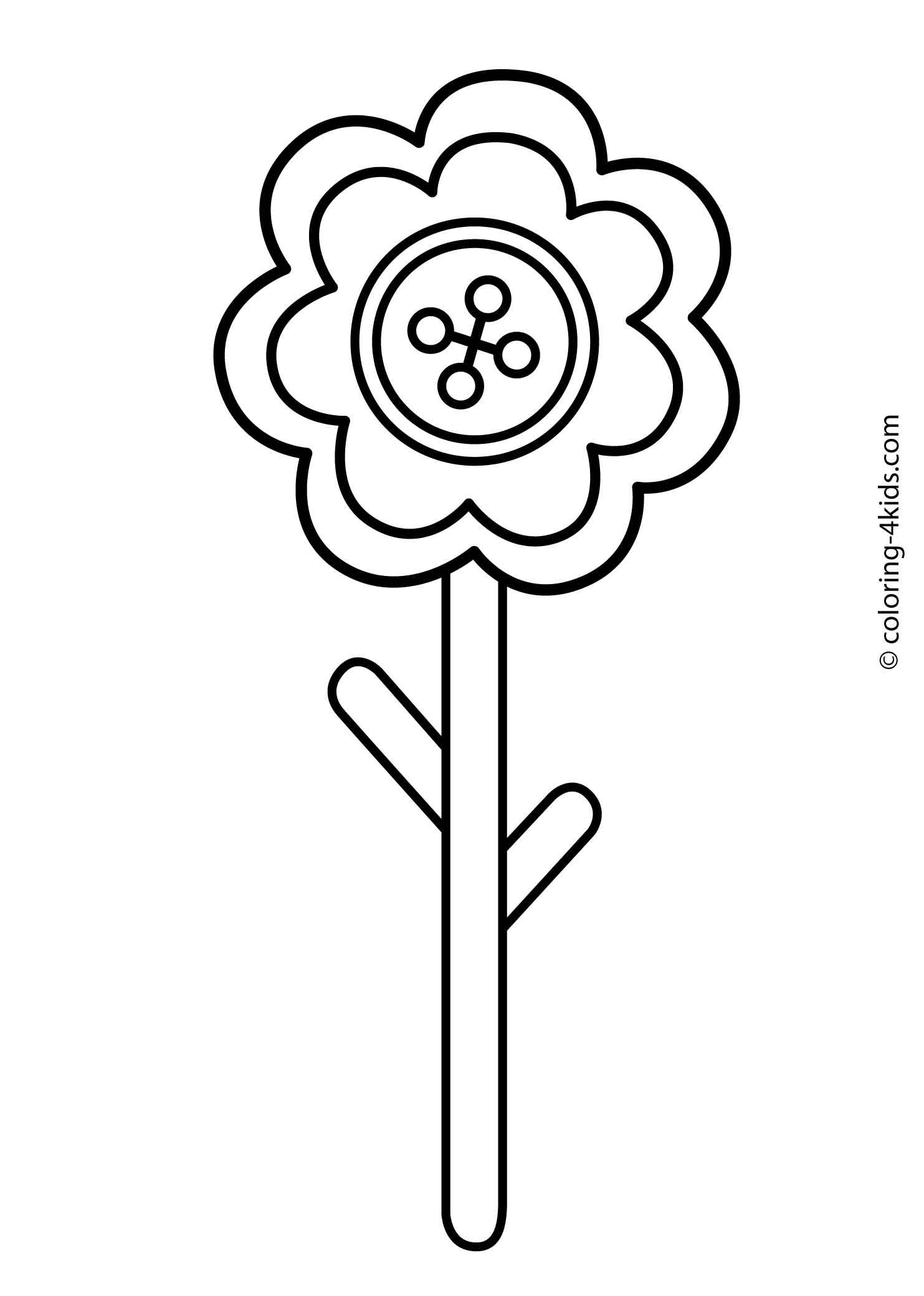 Flower Coloring Pages For Kids Printable 7 Coloring Pages Flower Coloring Pages Coloring Pages For Kids