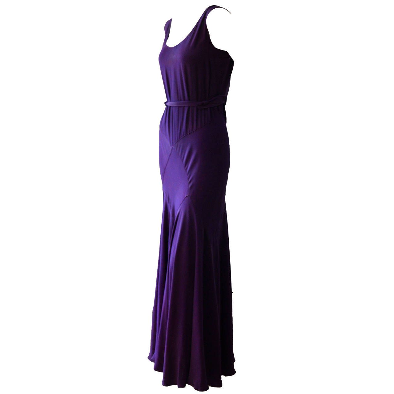 1930s bias cut purple crepe evening dress 1930s crpes and 1930s for sale on elegant purple biais cut 1930 cocktail dress very faint small stain to front and back of bodice but barely noticeable small l shaped darn to ombrellifo Image collections