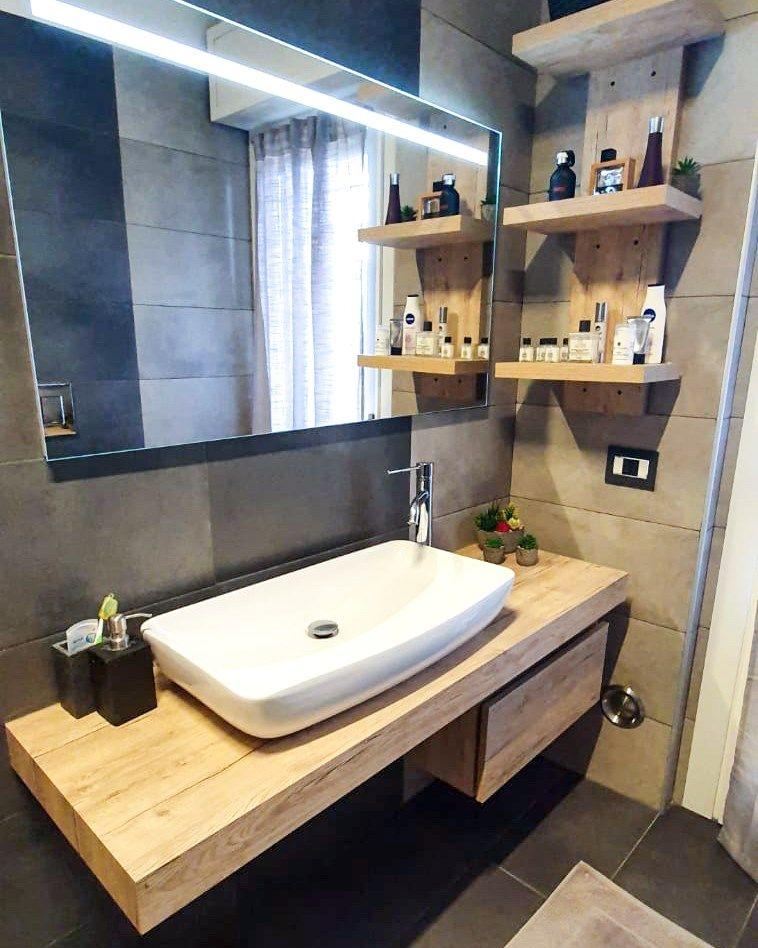 Mobili Bagno Mensola Per Lavabo In 2020 Home Decor Bathroom