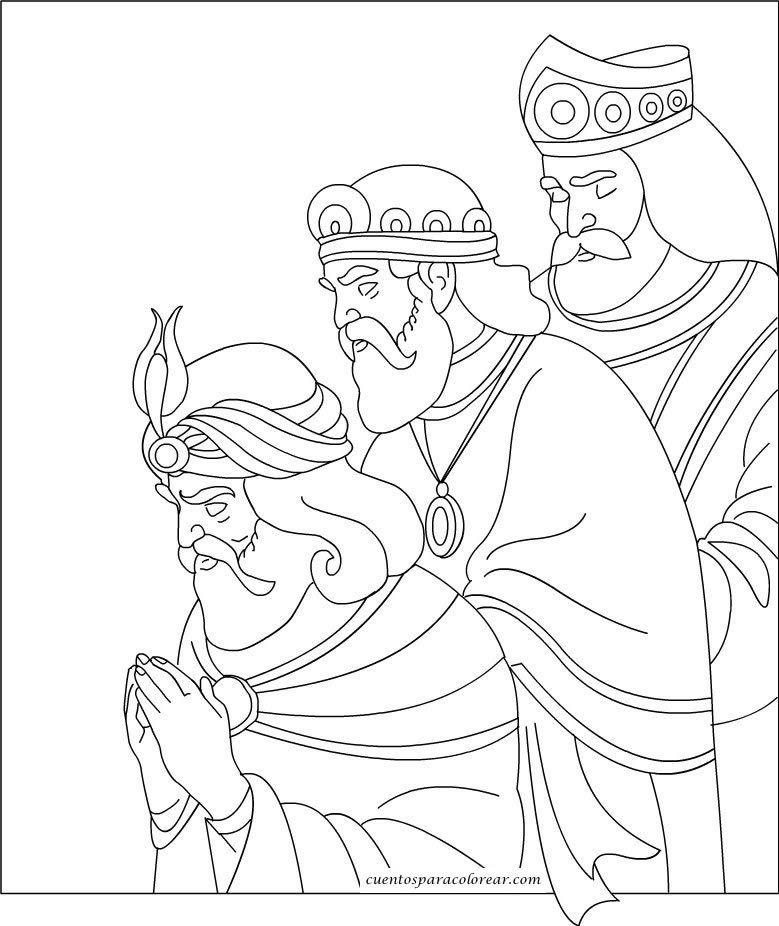 Dibujos De Los Reyes Magos De Navidad Para Colorear Online Vsh
