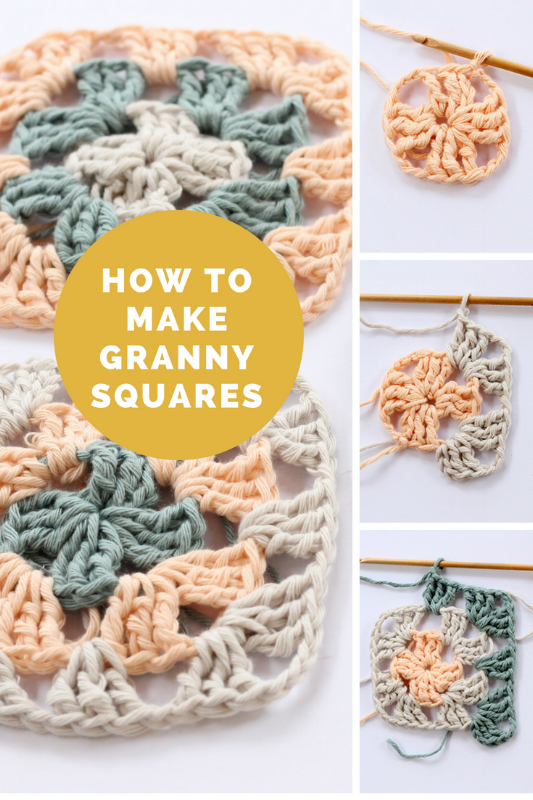 Crochet Granny Square Pattern Learn How To Make A Granny Square With This F Crochet Granny Square Beginner Granny Square Crochet Granny Square Crochet Pattern