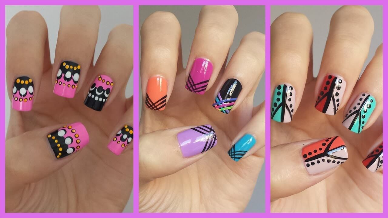 This Nail Artist Showing Us Simple Nail Art Ideas and Nail Trends of This Year