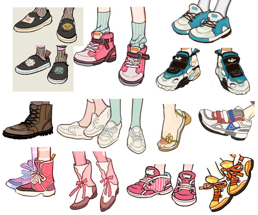 Картинки для срисовки одежда и обувь