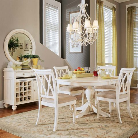 Camden Round Table With Creamy White Finishamerican Drew $845 Stunning Design Your Own Dining Room Table 2018