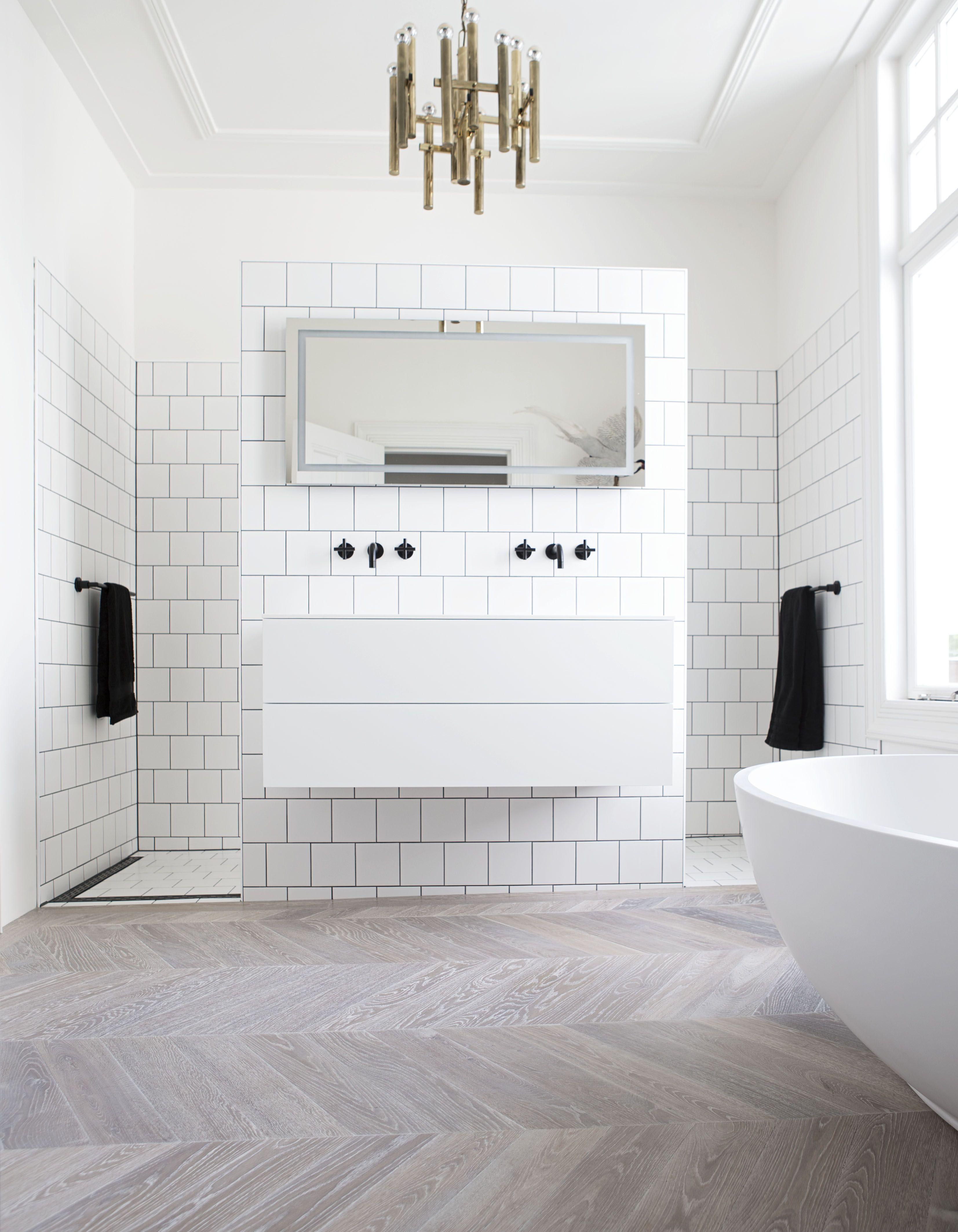 hongaarse punt vloer in de badkamer home pinterest delen