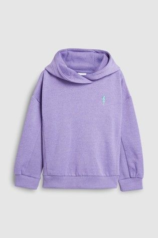 e9ec7d51e705 Buy Purple Hoody With Lightning Embroidery (3-16yrs) from Next Japan ...