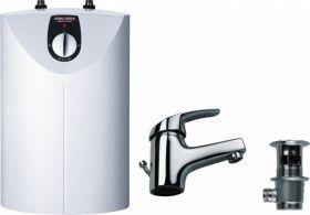 speicher warmwasserspeicher snu 5 sl weiss m einhebel waschtischarmatur. Black Bedroom Furniture Sets. Home Design Ideas