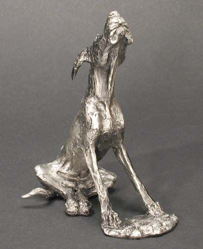 First Stretch Great Dane Dog Sculpture By Louise Peterson