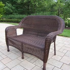 Sensational Oakland Living Resin Wicker Wicker Outdoor Loveseat With And Cjindustries Chair Design For Home Cjindustriesco